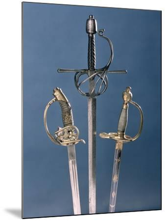 Infantry Officer's Sword, 1796, Swept-Hilt Rapier, c.1600, Prussian Officer's Sword, 1878--Mounted Giclee Print