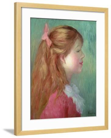 Young Girl with Long Hair in Profile, 1890-Pierre-Auguste Renoir-Framed Giclee Print