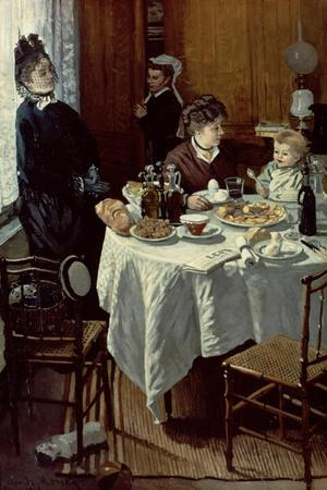 The Breakfast, 1868-Claude Monet-Stretched Canvas Print