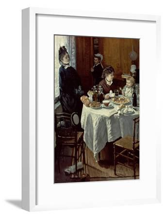 The Breakfast, 1868-Claude Monet-Framed Giclee Print