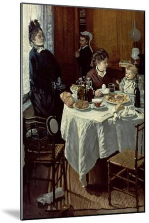 The Breakfast, 1868-Claude Monet-Mounted Giclee Print