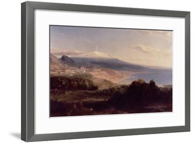 Taormina and Etna, c.1840-Carl Rottmann-Framed Giclee Print