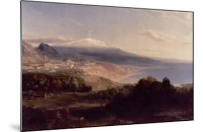 Taormina and Etna, c.1840-Carl Rottmann-Mounted Giclee Print