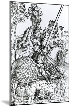 St. George on Horseback, 1507-Lucas Cranach the Elder-Mounted Giclee Print
