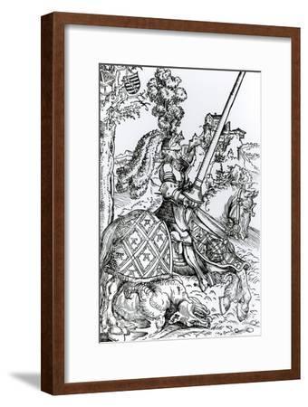 St. George on Horseback, 1507-Lucas Cranach the Elder-Framed Giclee Print