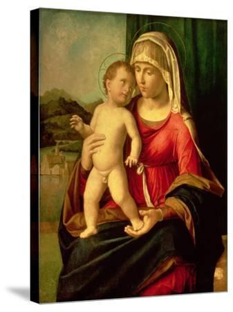 Madonna and Child-Giovanni Battista Cima Da Conegliano-Stretched Canvas Print
