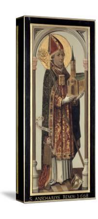 Votive Panel Depicting St. Ansgar, 1457-Hans Bornemann-Stretched Canvas Print