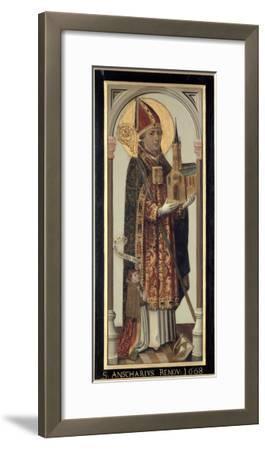 Votive Panel Depicting St. Ansgar, 1457-Hans Bornemann-Framed Giclee Print