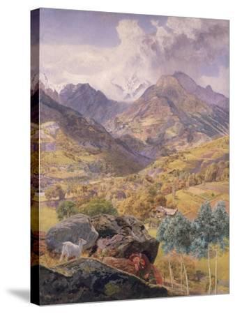 The Val D'Aosta, 1858-John Brett-Stretched Canvas Print