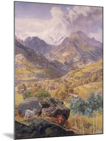 The Val D'Aosta, 1858-John Brett-Mounted Giclee Print