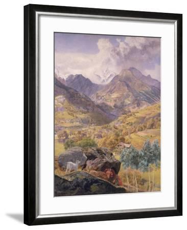 The Val D'Aosta, 1858-John Brett-Framed Giclee Print