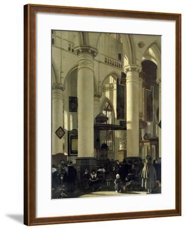 Interior of a Church-Emanuel de Witte-Framed Giclee Print
