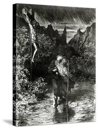 The Wandering Jew-Gustave Dor?-Stretched Canvas Print