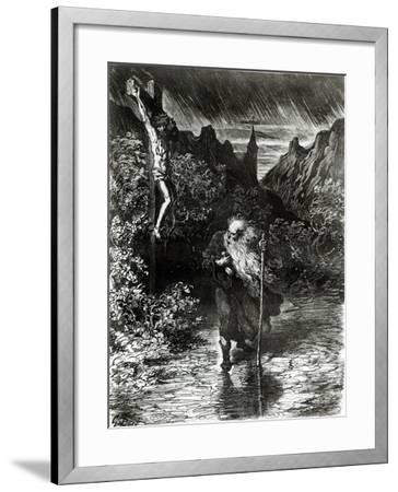 The Wandering Jew-Gustave Dor?-Framed Giclee Print