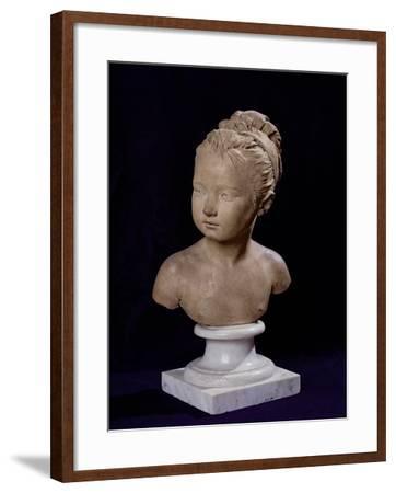 Bust of Louise Brongniart, 1777-Jean-Antoine Houdon-Framed Giclee Print