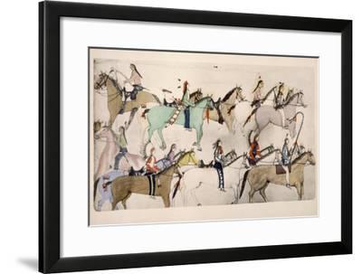 End of the Battle- Amos Bad Heart Buffalo-Framed Giclee Print