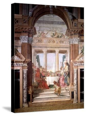 Cleopatra's Banquet, 1747-50-Giovanni Battista Tiepolo-Stretched Canvas Print
