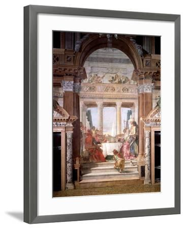 Cleopatra's Banquet, 1747-50-Giovanni Battista Tiepolo-Framed Giclee Print