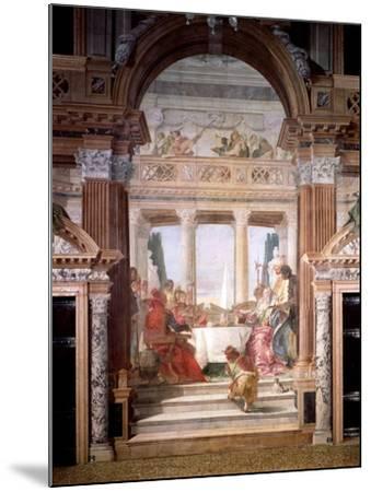 Cleopatra's Banquet, 1747-50-Giovanni Battista Tiepolo-Mounted Giclee Print