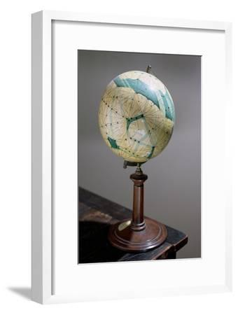 Globe of the Planet Mars, Made 1903-09-Percival Lowell-Framed Giclee Print