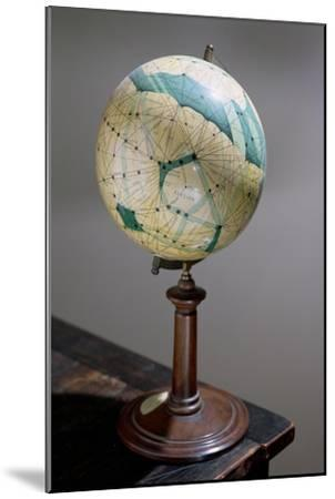 Globe of the Planet Mars, Made 1903-09-Percival Lowell-Mounted Giclee Print