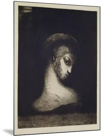 Female Head-Odilon Redon-Mounted Giclee Print