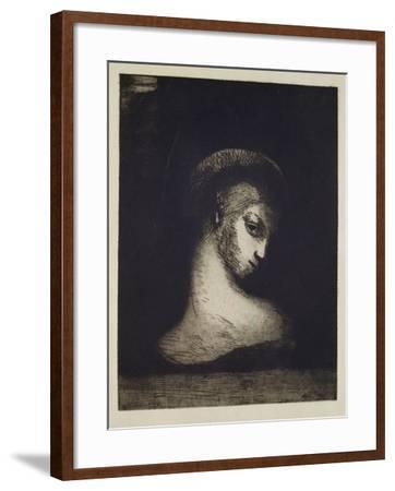 Female Head-Odilon Redon-Framed Giclee Print