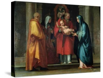 Presentation in the Temple-Fra Bartolommeo-Stretched Canvas Print