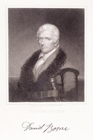 Daniel Boone-Chester Harding-Stretched Canvas Print
