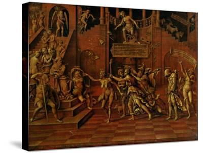 Allegory of Slander Or, Allegory of Fortune-Lorenzo Leonbruno-Stretched Canvas Print