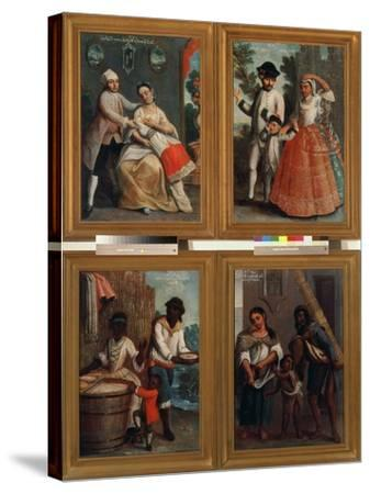 Four Different Racial Groups-Andres De Islas-Stretched Canvas Print