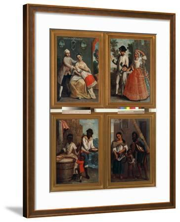 Four Different Racial Groups-Andres De Islas-Framed Giclee Print
