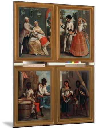 Four Different Racial Groups-Andres De Islas-Mounted Giclee Print