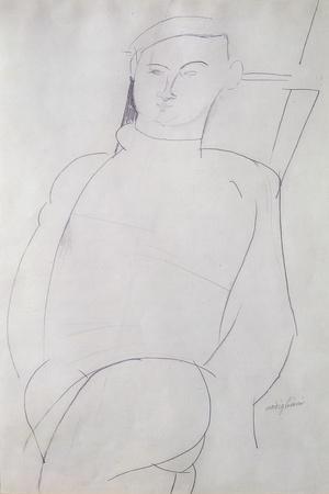 Jacques Lipchitz-Amedeo Modigliani-Stretched Canvas Print