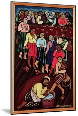 Jesus Washing the Disciples' Feet, 2000-Laura James-Mounted Giclee Print