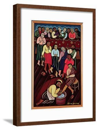 Jesus Washing the Disciples' Feet, 2000-Laura James-Framed Giclee Print