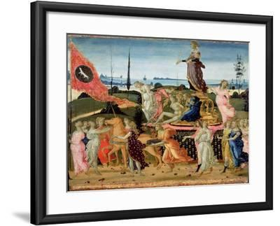 Triumph of Chastity, Inspired by Triumphs by Petrarch-Jacopo Del Sellaio-Framed Giclee Print