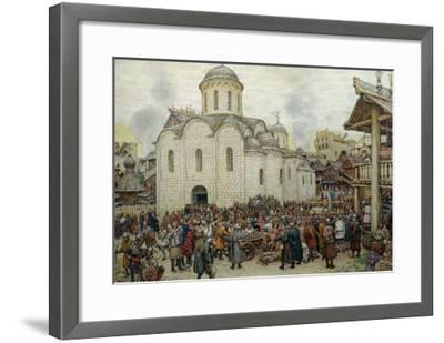 The Defence of the Town, 1918-Apollinari Mikhailovich Vasnetsov-Framed Giclee Print