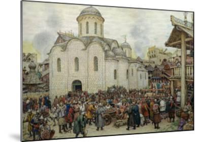 The Defence of the Town, 1918-Apollinari Mikhailovich Vasnetsov-Mounted Giclee Print