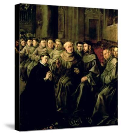 Welcoming St. Bonaventure-Francisco Herrera-Stretched Canvas Print