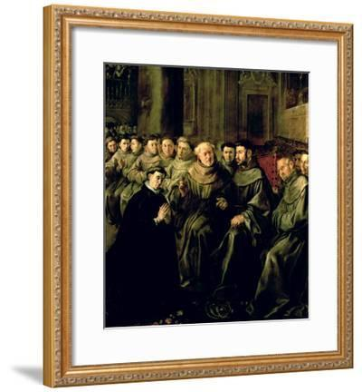Welcoming St. Bonaventure-Francisco Herrera-Framed Giclee Print
