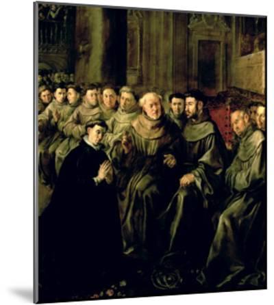 Welcoming St. Bonaventure-Francisco Herrera-Mounted Giclee Print