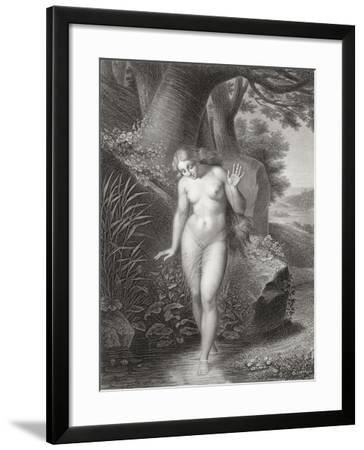 Eve's Reflection in the Water, from a French Edition of 'Paradise Lost' by John Milton-Jules Richomme-Framed Giclee Print