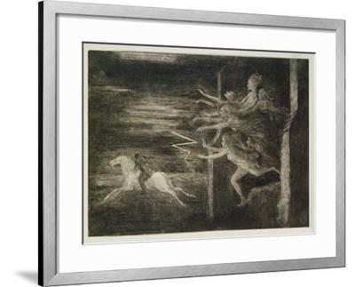 Scarcely Had He Maggie Rallied When Out the Hellish Legion Sallied, Tam O'Shanter, Robert Burns-Richard Cockle Lucas-Framed Giclee Print