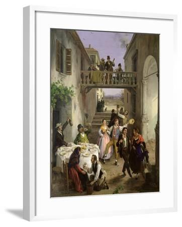 Wedding at Brianza, 1873-Angelo Inganni-Framed Giclee Print