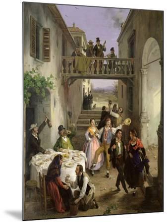 Wedding at Brianza, 1873-Angelo Inganni-Mounted Giclee Print