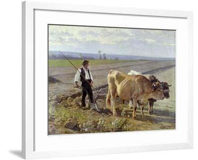 The Furrow, 1897-Edouard Debat-Ponsan-Framed Giclee Print