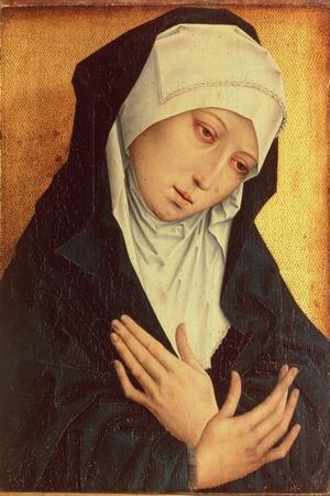 Mater Dolorosa-Rogier van der Weyden-Stretched Canvas Print