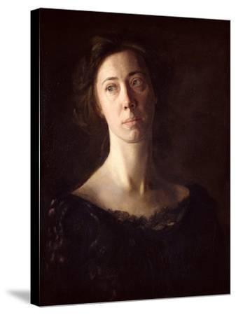 Portrait of Clara J. Mather-Thomas Cowperthwait Eakins-Stretched Canvas Print