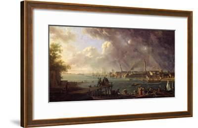 View of the Port of Lorient-Jean-Francois Hue-Framed Giclee Print